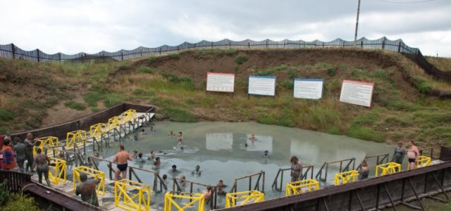 Бассейн грязевого вулкана Тиздар на Азовском море
