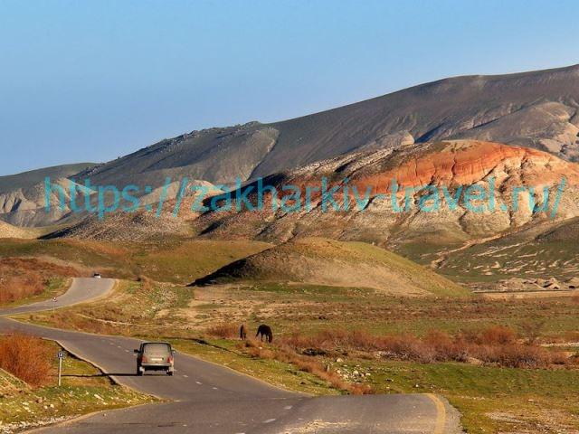 цветные горы хызы в азербайджане дорога