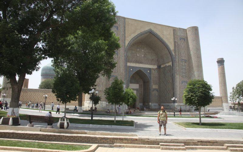 Осмотр Гур Эмир вовремя путешествия по Узбекистану