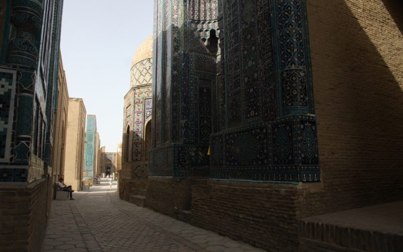 Посещение Шахи Зинга во время путешествия с детьми по Узбекистану