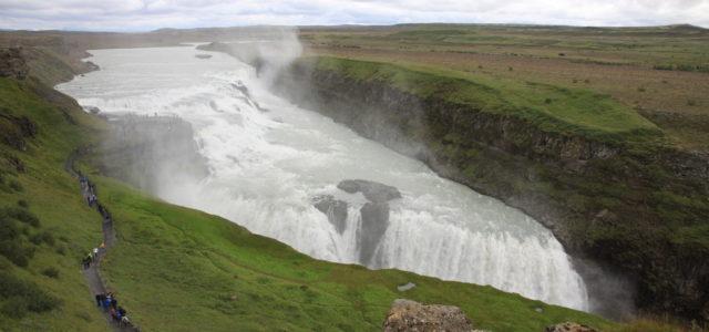 Поездка в Исландию водопад Гюдльфосс