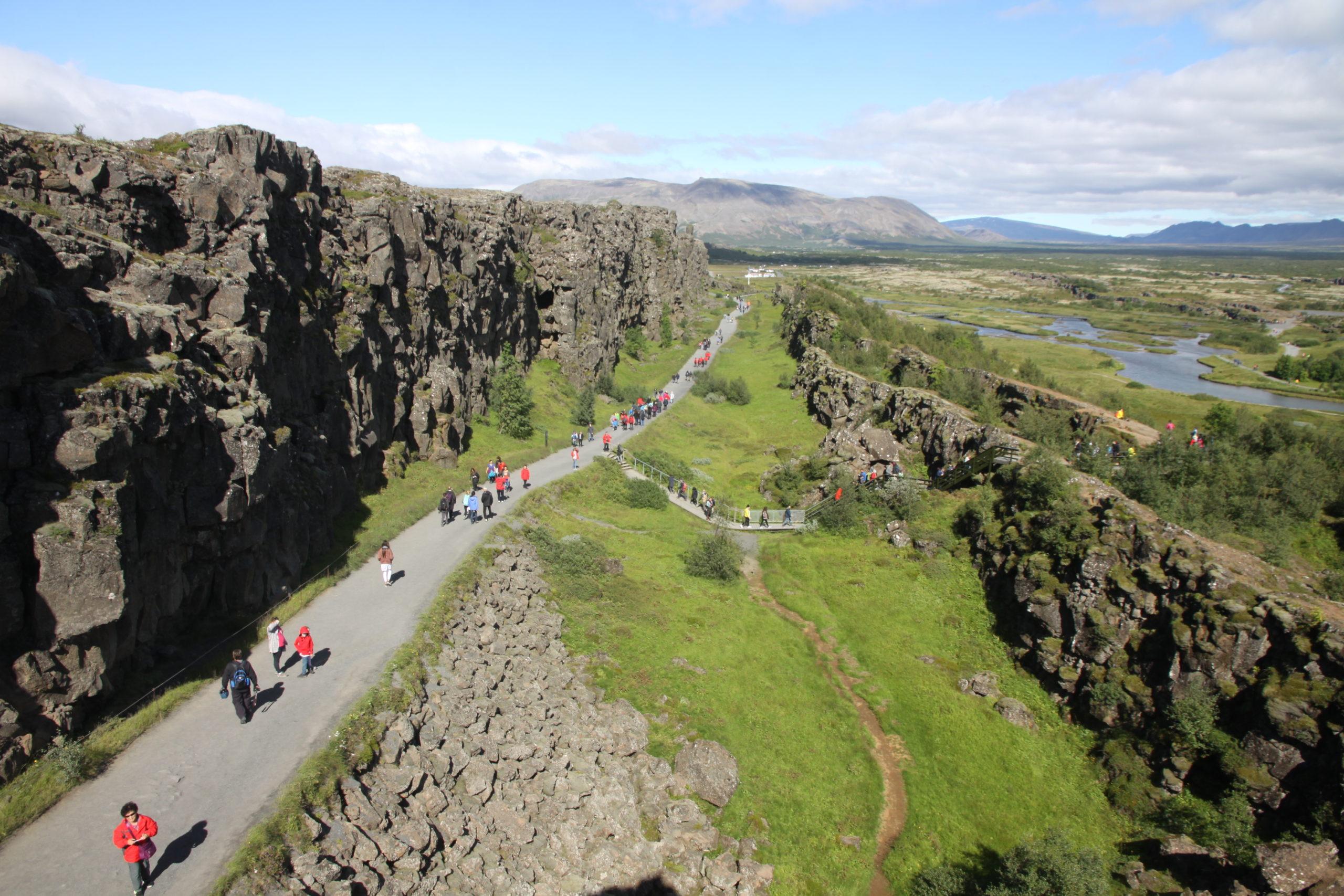 Поездка в Исландию - долина Тингвеллир