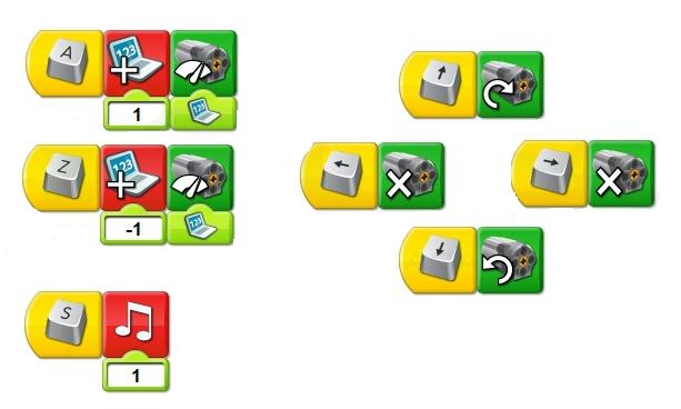 Программный код для оживления пожарной машинки из lego wedo