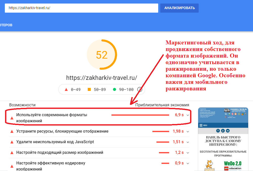 Скорость работы сайта, как фактор ранжирования позиций на поиске
